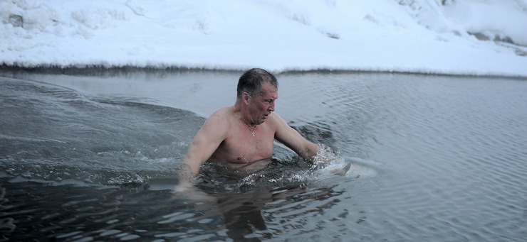 Крещенские купания в Норильске