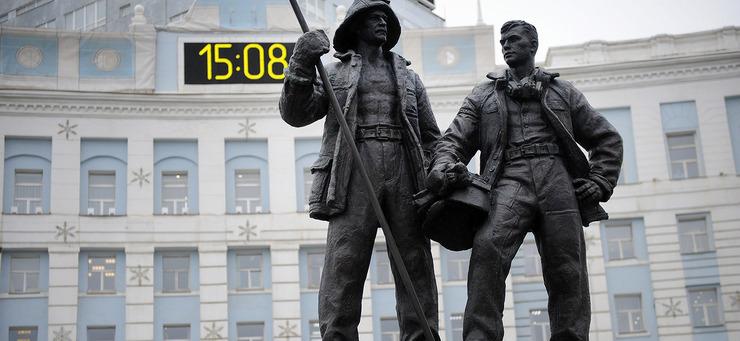 Открытие монумента «Металлургам Норильска»