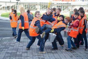 Пятая трудовая четверть заканчивается у норильских старшеклассников