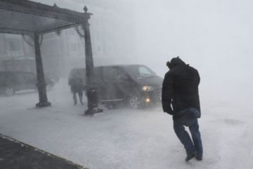 Штормовое предупреждение объявлено в Норильске