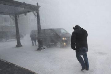 Штормовое предупреждение вновь объявлено в Норильске