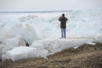 Кромка льда на Енисее находится в 1042 км от Дудинки