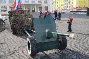 В День Победы норильчане увидели боевую технику и оружие времен Великой Отечественной войны