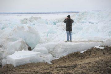За сутки ледоход приблизился к Дудинке на 100 километров