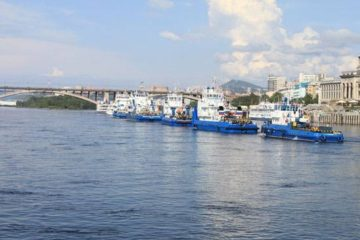 Парад судов в честь Дня работников морского и речного флота пройдет на Енисее