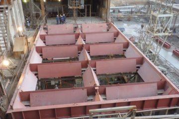 На цементном заводе продолжается капитальный ремонт вращающейся печи