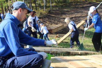 """Волонтеры проекта """"ПонесЛось!"""" создали новую экотропу в """"Столбах"""""""