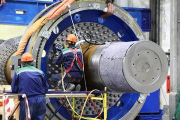 """На руднике """"Скалистый"""" продолжается строительство и оснащение двух самых глубоких в Евразии стволов"""