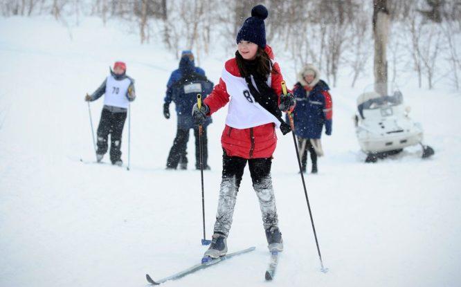В Норильске стартовал марафон «Лыжня «Норникеля»