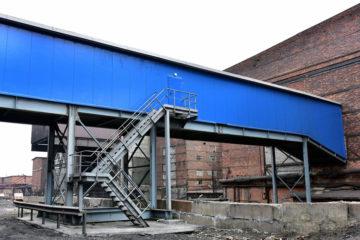 В Кольской ГМК построили галерею, по которой транспортируют дробленый уголь