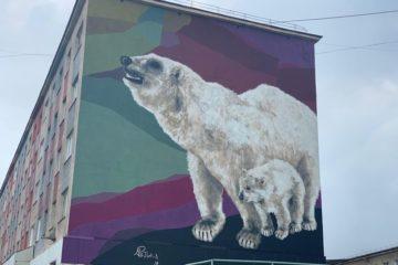Работы по созданию картин на норильских фасадах завершены