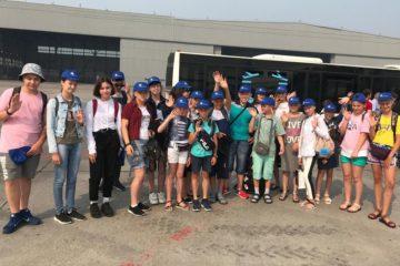 Дети сотрудников Енисейского пароходства отправились на отдых в Анапу