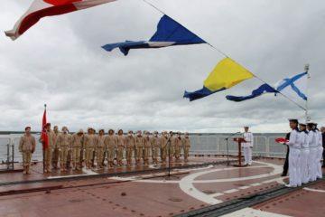 Школьников Таймыра посвятили в юнармейцы на боевом корабле