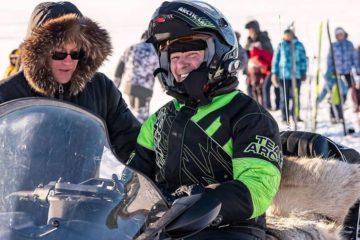 Сквозь пургу на снегоходах: экспедиция «Легенды Арктики» держит курс на Таймыр