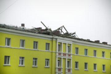 20 норильских зданий получили повреждения во время ночного шторма