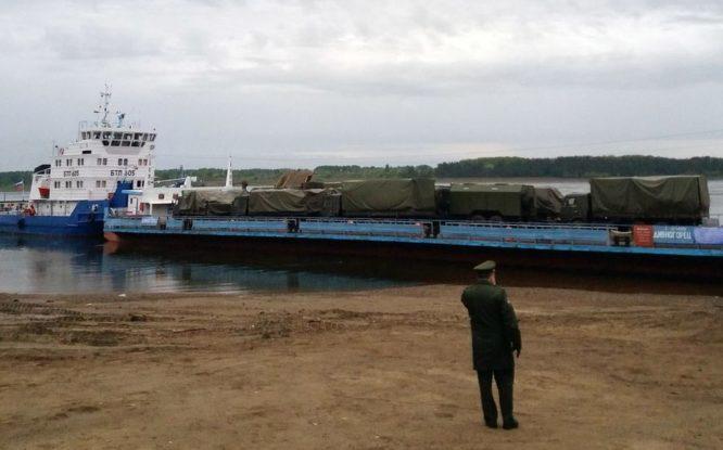 Енисейское пароходство обеспечило отправку военной техники в Красноярский край
