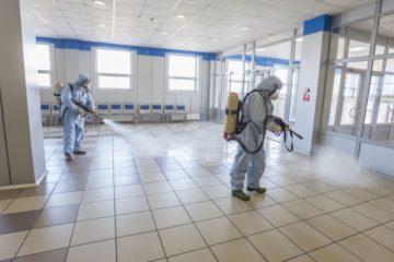 Дезинфекция в аэропорту Норильска