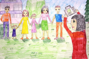 Для норильчан объявили дистанционный конкурс рисунков «Я и моя семья»