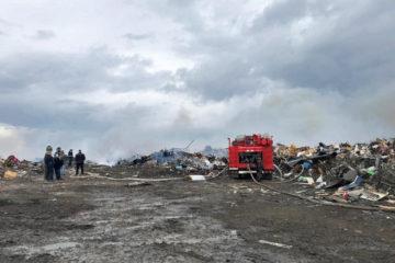Пожар на полигоне промышленных отходов под Норильском локализовали