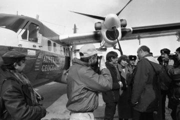 В 1989-м во время кругосветного перелета в Норильске приземлился Дик Смит