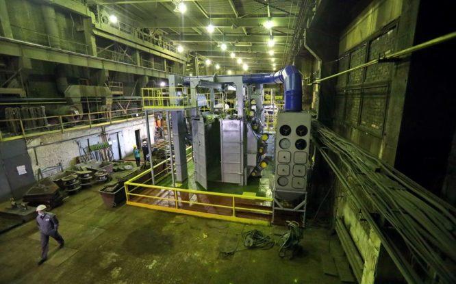 Механический завод получил новую дробометную установку