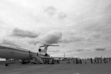 В 1977 году аэропорт Норильска впервые принял пассажирский Ту-154