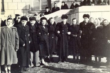 В 1944 году в Норильске появились первые студенты