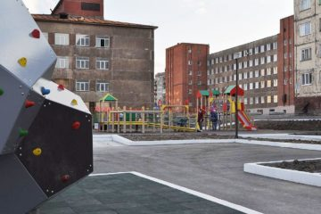 В Норильске завершили обустройство трех общественных пространств