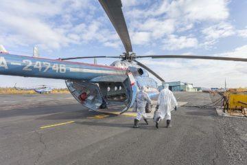 Вертолеты «Норильск Авиа» обрабатывают антисептиками