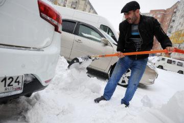 В Норильске сильный снегопад, у школьников актировка