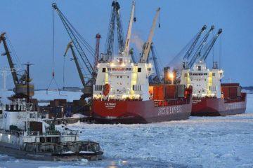 В Дудинском морском порту установили новое освещение