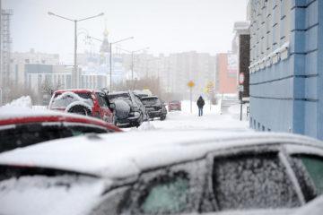 Обильный снегопад в Норильске завершится к среде