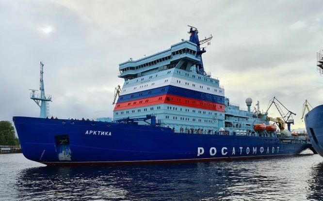 В Дудинке испытают самый мощный в мире атомный ледокол «Арктика»