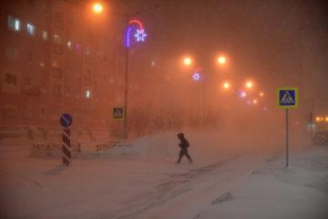 В Норильске сохраняется штормовое предупреждение