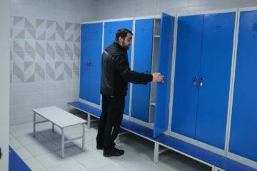 На предприятии «Единое складское хозяйство» открыли современные гардеробные блоки