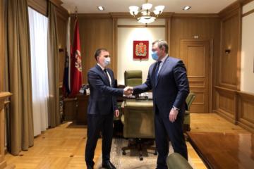 Дмитрий Карасев встретился с председателем Заксобрания края Дмитрием Свиридовым