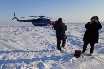 Под Дудинкой совершил вынужденную посадку вертолет Ми-8Т