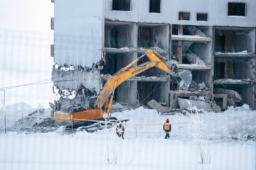В Норильске начался демонтаж домов в рамках программы реновации