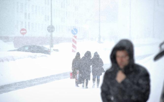 В Норильске опять непогода и снегопад