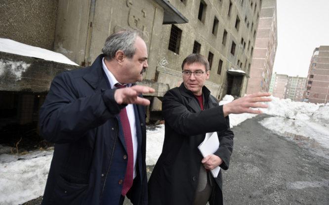 Алексей Веллер посетил главную площадку жилищного строительства в Норильске
