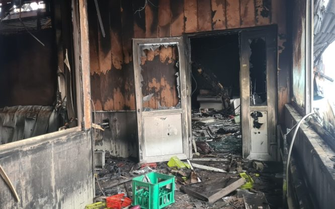 Причиной пожара в Талнахе могло стать неосторожное обращение с огнем