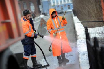 В Норильске приступили к летнему благоустройству улиц