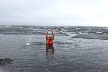 Команда  X-WATERS Plateau Putorana определила место заплыва на озере Лама