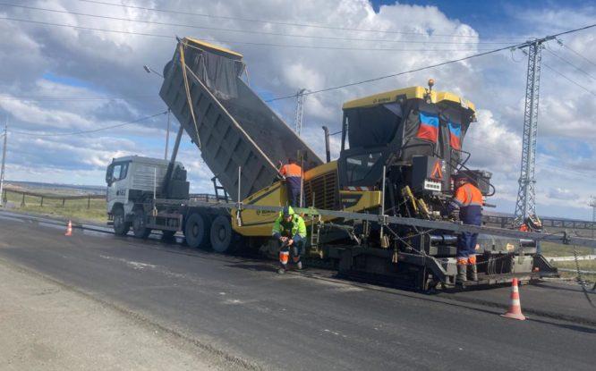 В Норильске заканчивают ремонт на 38-м километре дороги в аэропорт