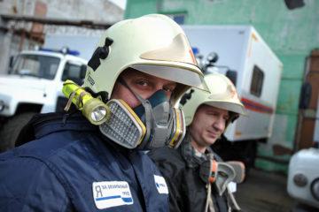 Газоспасатели Норильска показали готовность к чрезвычайным ситуациям