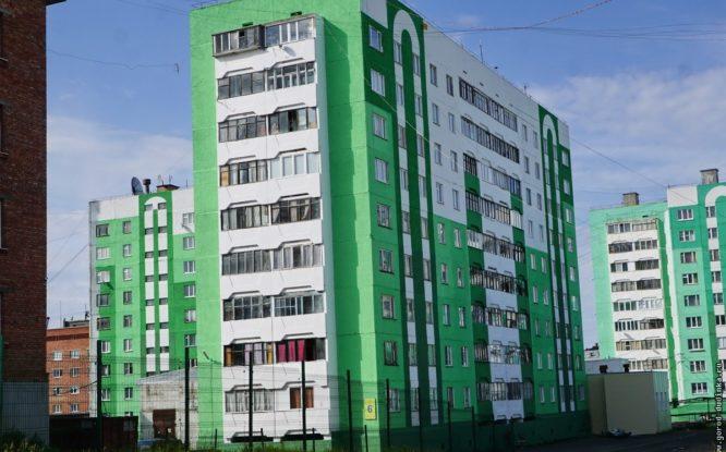 В Дудинке обновили фасады домов
