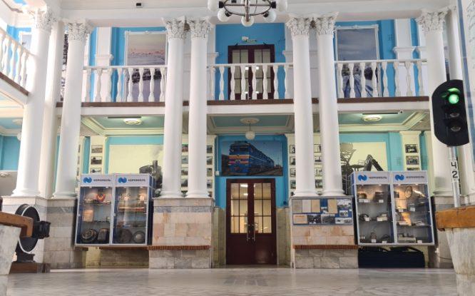 В музее Норильской железной дороги сделали косметический ремонт