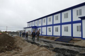 Глава Таймыра проверил, как строят станцию очистки воды в Хатанге