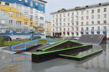 В Норильске открывают обновленный скейт-парк