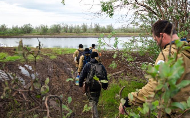 В устье Амбарной начали активную фазу рекультивации земель